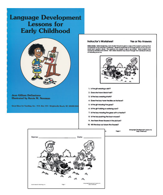 LANGUAGE DEVELOPMENT LESSONS FOR EARLY CHILDHOOD Janelle – Reproducible Student Worksheet