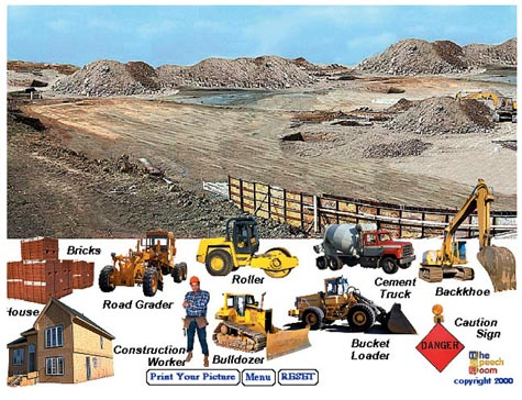 Vocabulary play scenes janelle publications creative for Construction vocabulary