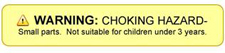 Warning Choking Hazard - Small parts. Not suitable for children under 3 years.